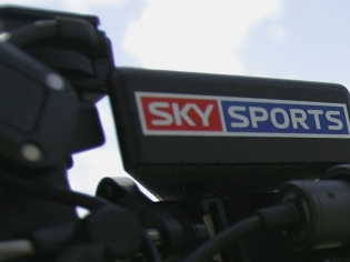 A Sky Sports presenter at work.