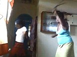 The six-minute clip shows the mother whipping the girl with a belt
