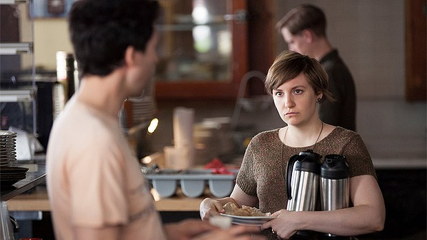 iGirls/i season 3  ... Lena Dunham as Hannah, with her short hair after hacking it off in season two.
