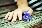 A soft blue memory