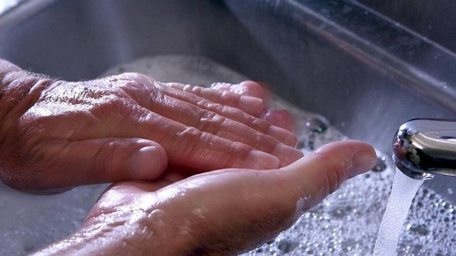 Handwashing is a familiar symptom of OCD. Photography: David Kapernick