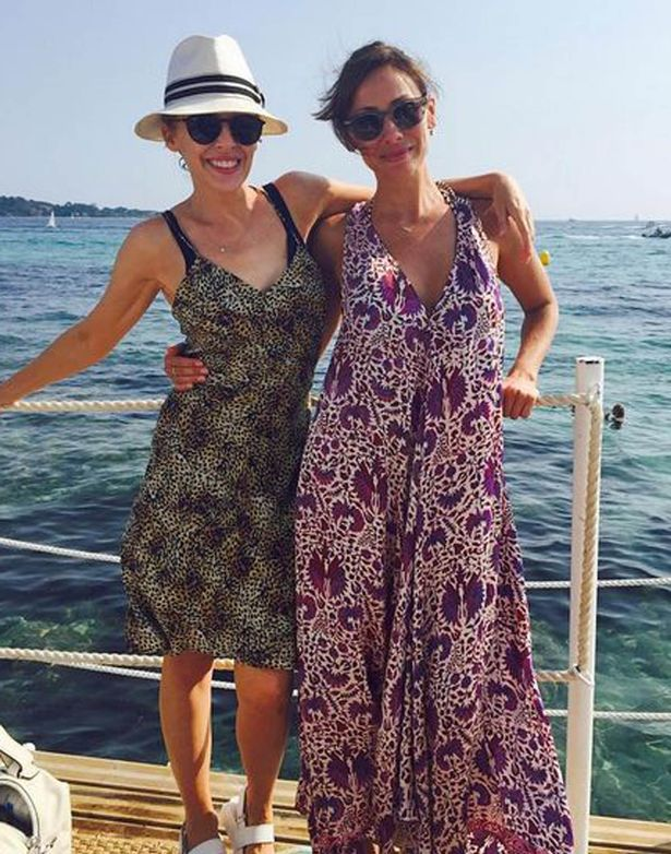 Natalie Imbruglia and Kylie Minogue on holiday