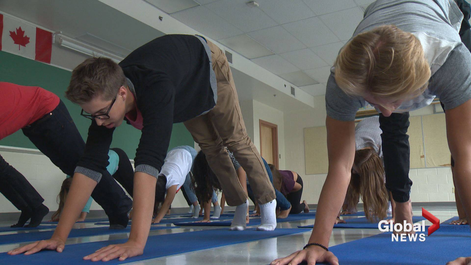 Students participate in new yoga program at St. Francis High School