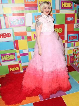 Dunham at yesterday's Emmy Awards. Picture: Getty Images