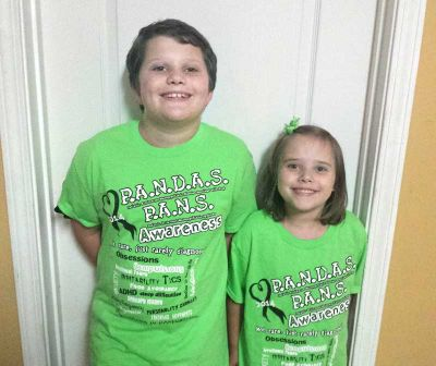 Neely and Lucy Ward promote PANDAS/PANS awareness.