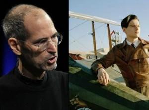 Steve Jobs and Leonardo Di Caprio portraying Howard Hughes