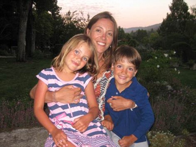 Charlotte on holiday with Emilia and Milo