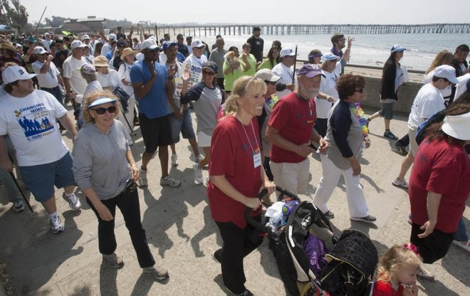 STAR FILE PHOTO Walkers make their way down the Ventura Beach Promenade during the ninth annual NAMI Walk in 2013. The event, which takes place April 30 this year, is put on by the Ventura County affiliate of the National Alliance on Mental Illness to raise support and awareness of mental illness.