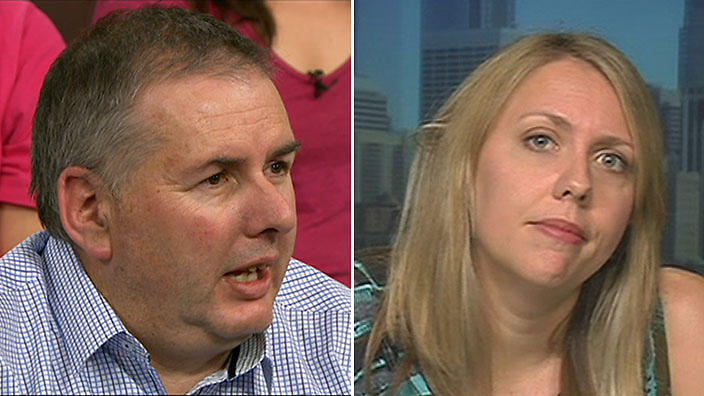 Christopher Gale (left) and Jessica Grisham. (Insight SBS)