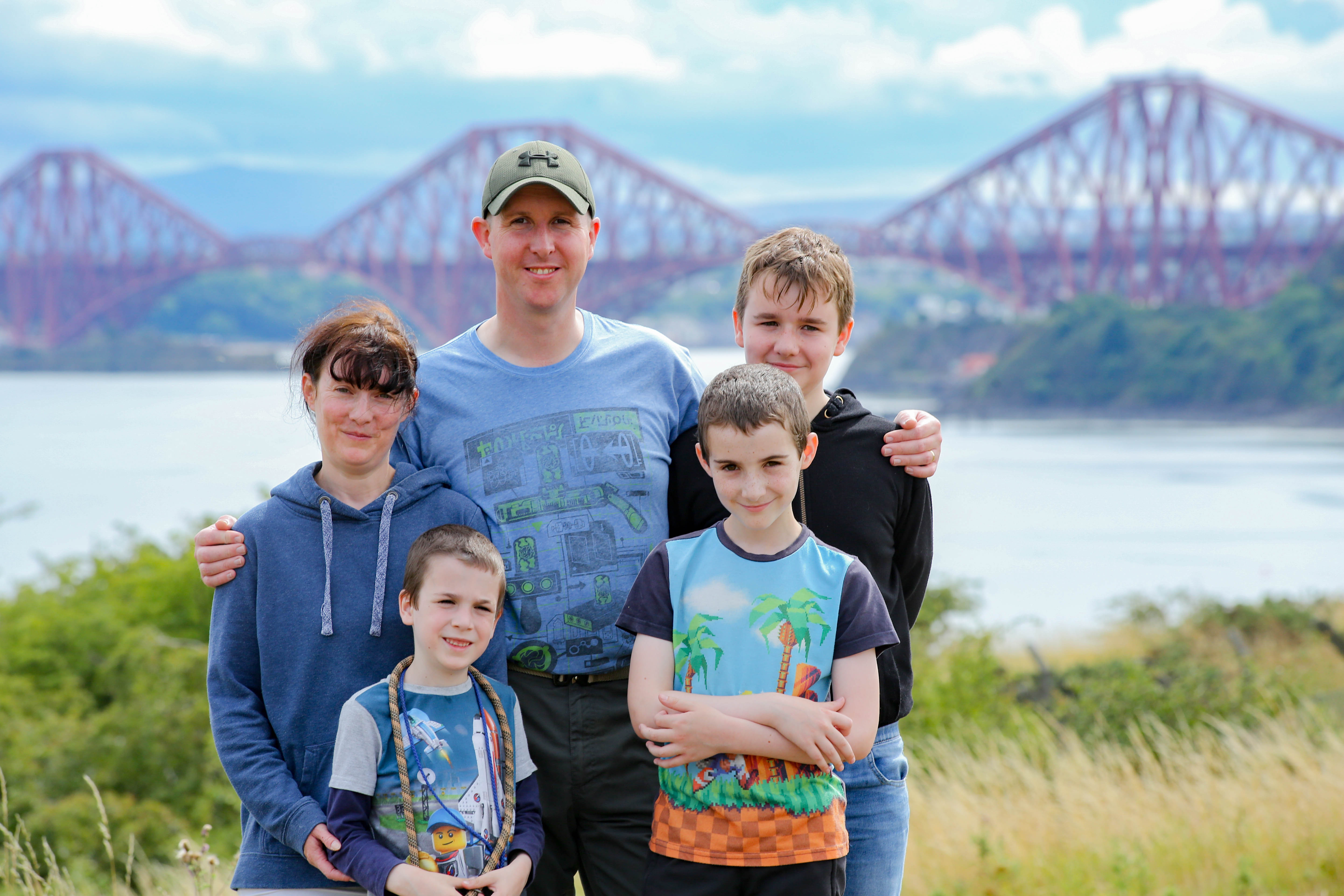Andrew, who has OCD, with his family